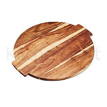 MC Artesa Дошка Lazy Susan дерев'яна посуд сервіровки обертається, 39х35х1,5см
