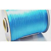 Косая бейка атласная, цвет ярко-голубой, фото 1