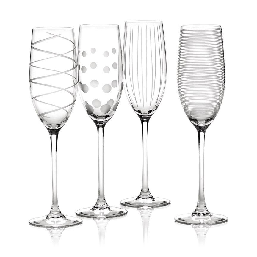 Mikasa Cheers Набор бокалов для шампанского из хрусталя 4 ед