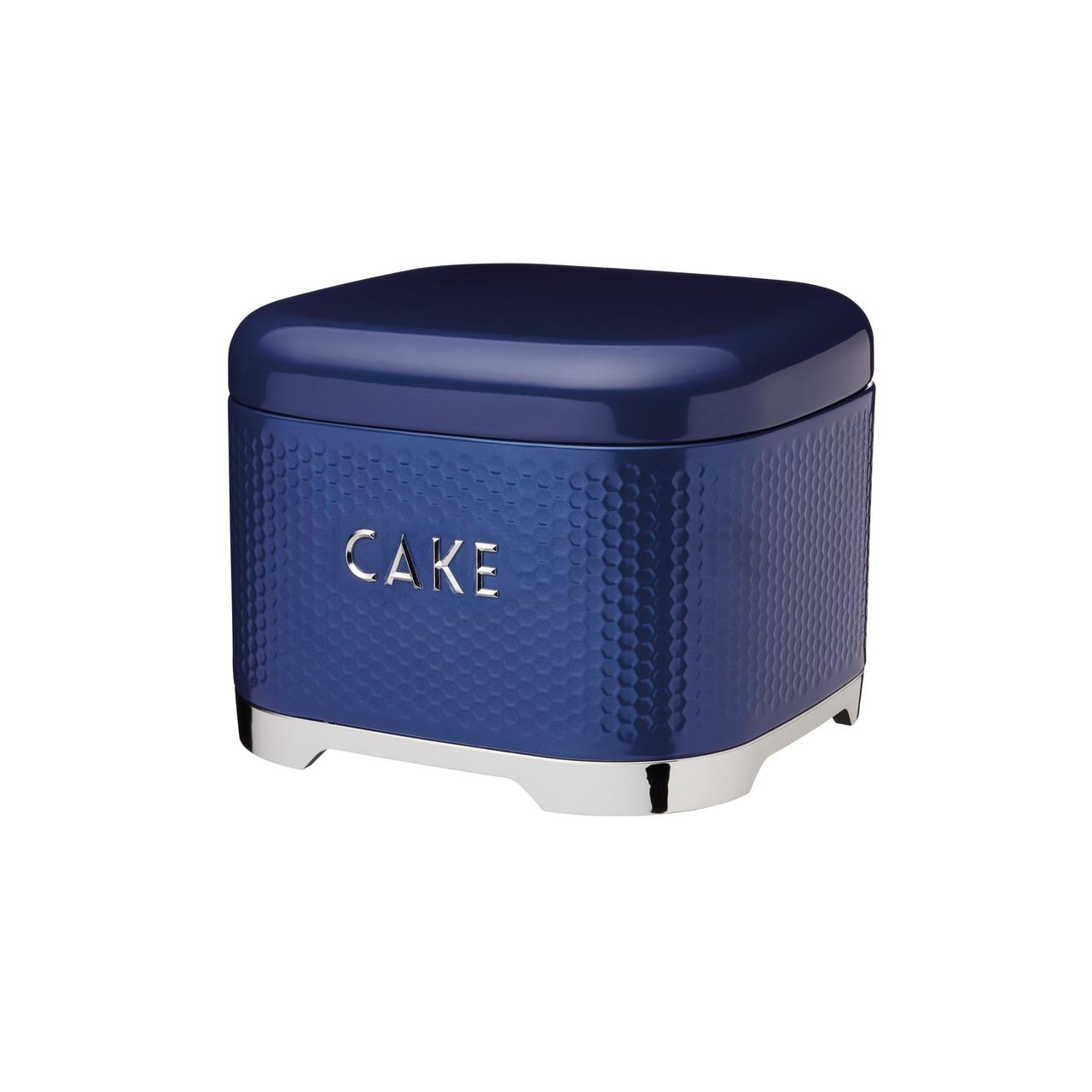 LovN Емкость для торта металлическая синяя 26*26*19 см