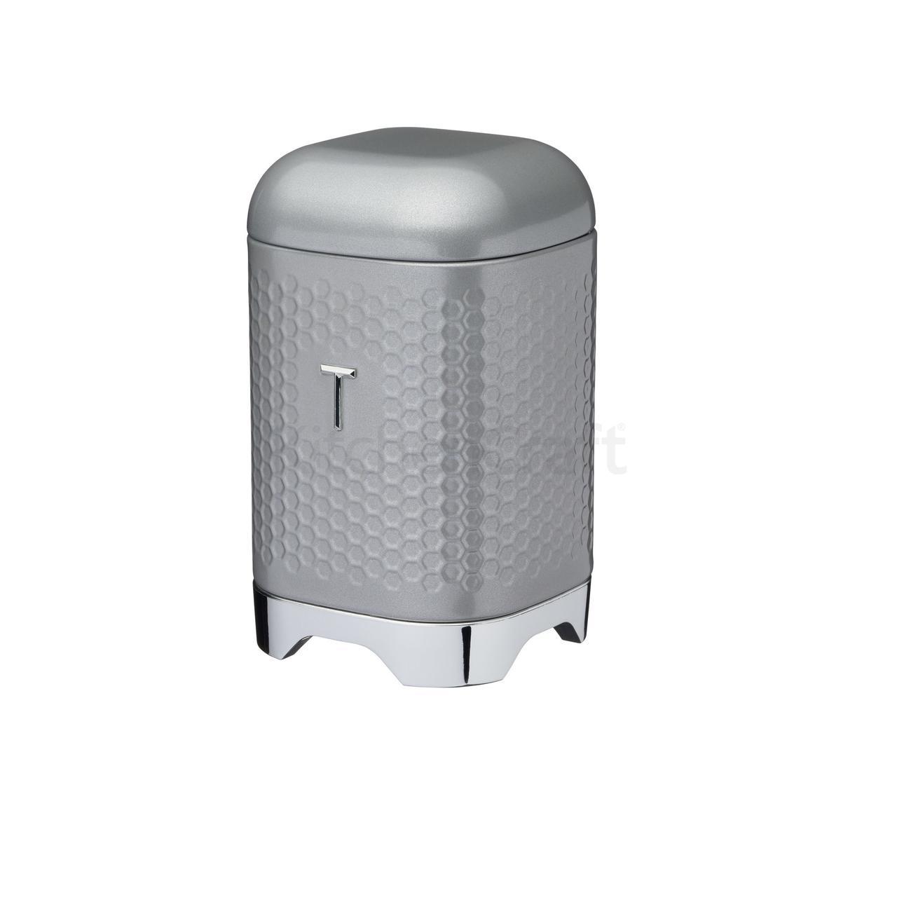 LovG Емкость для чая металлическая серая 11*11*19 см
