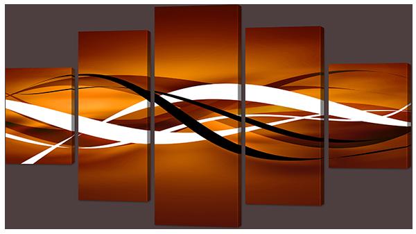 Модульная картина Interno Эко кожа Пересечение кривых 142х80см (А898L)