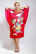 Шелковое платье кимоно дракон