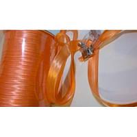 Косая бейка атласная, цвет бледно-оранжевый