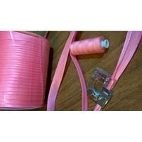 Косая бейка атласная, цвет розовый
