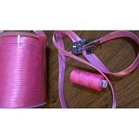 Косая бейка атласная, цвет ярко-розовый