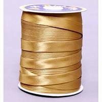 Косая бейка атласная, цвет золотистый