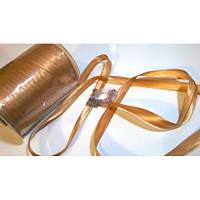 Косая бейка атласная, цвет бронзовый