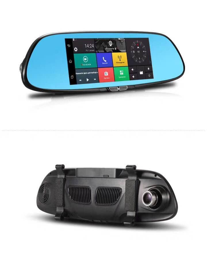 Зеркало K36 3G регистратор навигатор Andorid LCD 7+ камера заднего вида