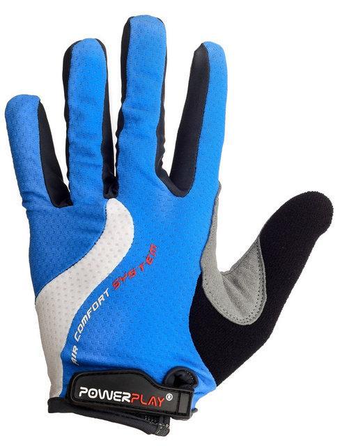 Велоперчатки с длинными пальцами PowerPlay 6554 синие
