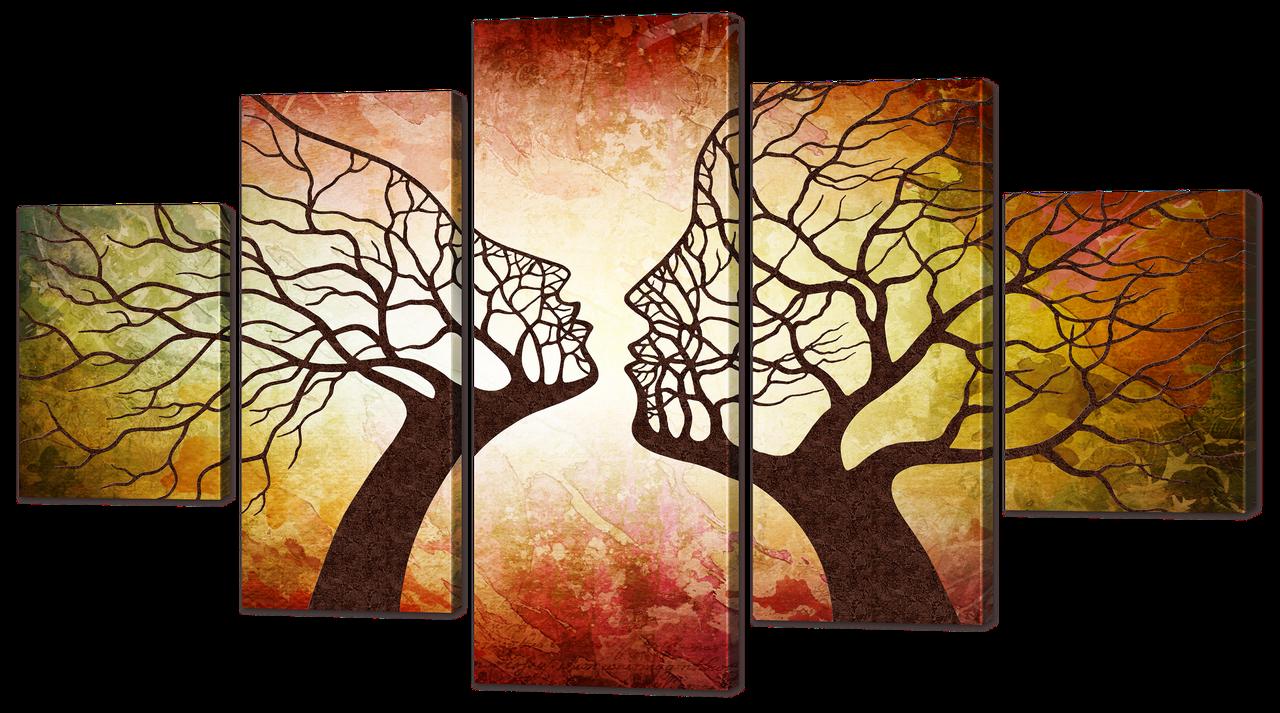 Модульная картина Interno Холст Деревья 185х106см (R861XXL)