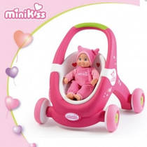 Ходунки-коляска Smoby Minikiss 210201