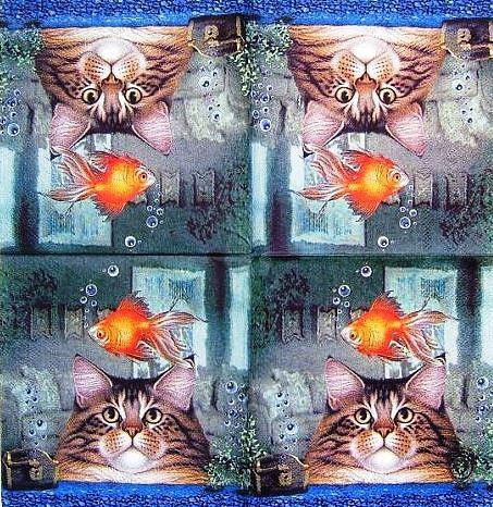 Салфетка декупажная Медитация на рыбку 3336