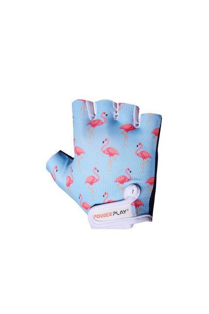 Детские велоперчатки PowerPlay фламинго