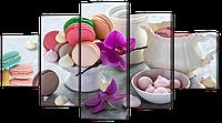 Модульная картина Interno Эко кожа Цветные сладости 142х80см (А946L)