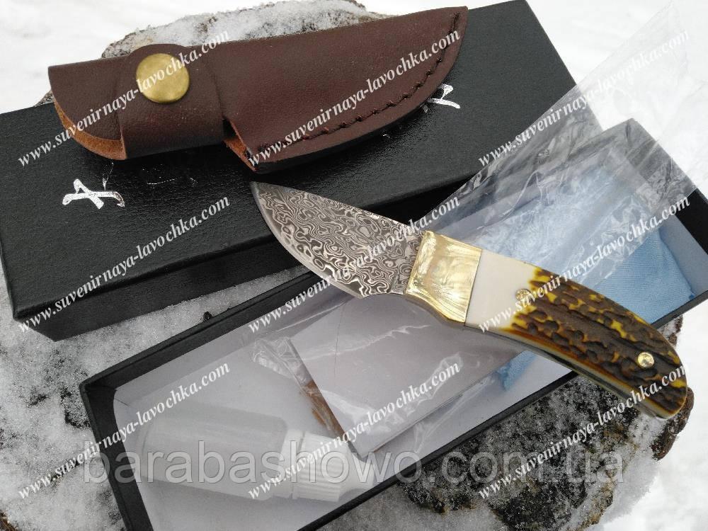 Нож Коллекционный Sherhan Дамаск прочный, надежный Mini