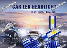 Автомобильные светодиодные лампы дальнего и ближнего света H1 ( Без вентиляторные), фото 3