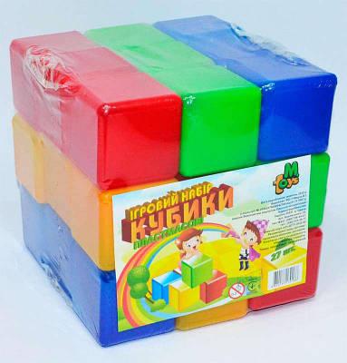 "Гр Кубики цветные 27 шт. (9) ""M-TOYS"""