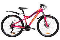 """Горный велосипед 26"""" Formula ELECTRA AM 14G DD St с крылом Pl 2019 (малиновый с салатным)"""