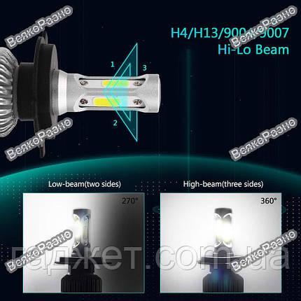 Автомобильные светодиодные лампы дальнего и ближнего света H 13, фото 2