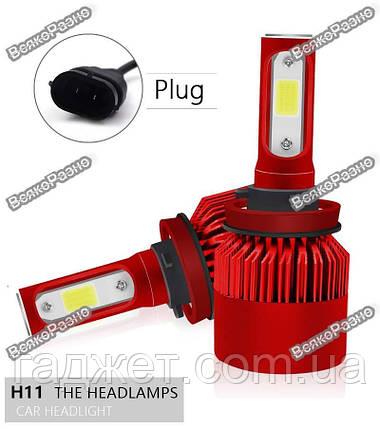 Автомобильные светодиодные лампы дальнего и ближнего света H 11, фото 2