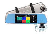 Зеркало регистратор Android  D35 2 камеры GPS 3G WiFi 16GB, фото 1