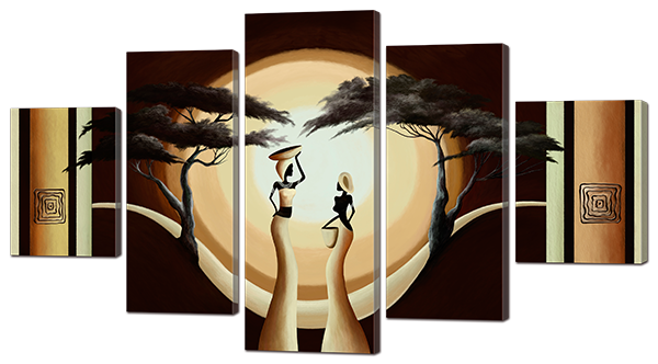 Модульная картина Interno Эко кожа Девушки и рассвет 185х106см (А908XXL)
