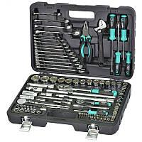 Набор инструмента Whirlpower 101 ед: ключи, отвертки, шарнирно-губцевый инструмент