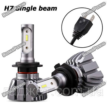 Автомобильные светодиодные лампы дальнего и ближнего света Oslamp H7, фото 2