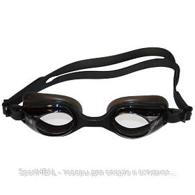 Окуляри для плавання дорослі SEL-1110-2. Колір чорний.