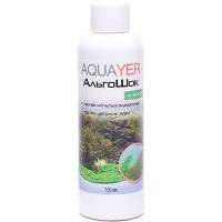 AQUAYER АльгоШок средство против зеленых нитчатых водорослей и цветения воды, 100мл