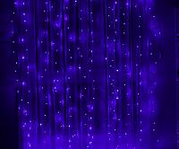 """Новорічна світлодіодна гірлянда """"Водоспад"""" штора 3х3м 480LED синя"""
