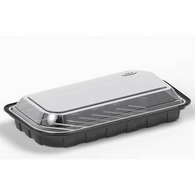 Контейнер для суши из полистирола с крышкой IT-130 110х210мм 650мм 400 шт/ящ