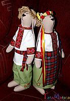 "Интерьерные куклы ручной работы. Зайцы ""Украинцы"""