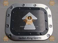 Наклейка крышки бензобака ТЮНИНГ Sedan-King Sports (материал алюминевая основа!) (прямоугольная) (пр-во Польша) Габариты: 123х148мм