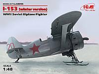 Сборная модель: Истребитель-биплан Поликарпов И-153 Чайка, ІІ МВ (зимняя модификация) (ICM48096)