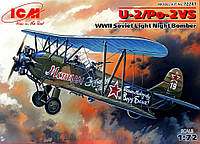 Сборная модель: Легкий ночной бомбардировщик II МВ У-2/По-2 ВС (ICM72241), фото 1