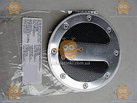 Наклейка крышки бензобака ТЮНИНГ  (материал алюминевая основа!) (круглая) (пр-во Польша) Габариты: диаметр ф130мм