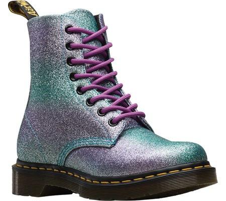 Женские ботинки Dr. Martens 1460 Pascal Glitter 8-Eye Boot Rainbow  Lilac Teal 5fa0d061baeeb