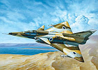 Сборная модель: Израильский истребитель-бомбардировщик Kfir C-7 (IT0163), фото 1