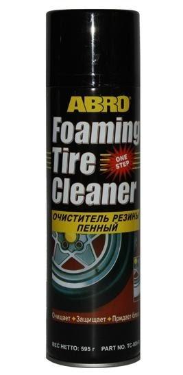 Очиститель и полироль для шин Abro Foaming Tire Cleaner TC-800 пенный (аэрозоль 600мл)