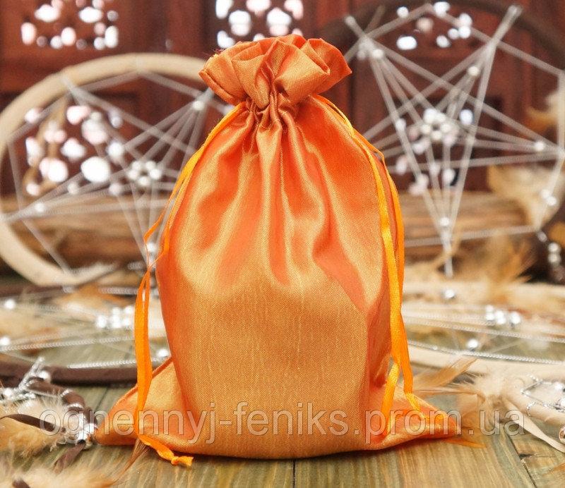 Чехол для карт таро, мешочек из сатина Оранжевый,14х20 см