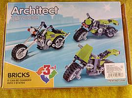 Конструктор Decool Architect мотоциклы 3 в 1