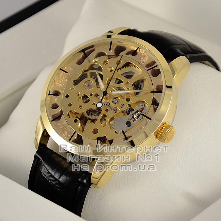 bf485f0fb57c6d Мужские наручные часы Omega Skeleton Gold Омега механика женские унисекс  качественные премиум реплика