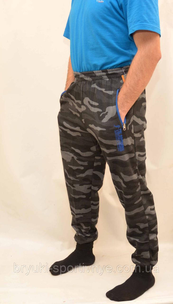 Брюки спортивные камуфляжные зимние под манжет с карманами на молнии