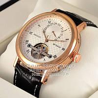 Мужские наручные часы Breguet Classique Tourbillon Extra-Thin Automatic 3006 Gold White механика люкс реплика