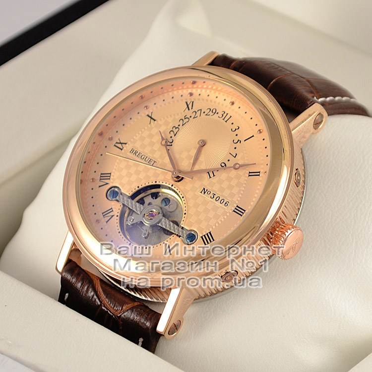 Мужские наручные часы Breguet Classique Tourbillon Extra-Thin Automatic 3006 Gold Gold Брегет люкс реплика