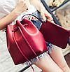Сумка женская через плечо в наборе кошелек Suzy Красный, фото 4