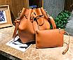 Сумка женская через плечо в наборе кошелек Suzy Коричневый, фото 2