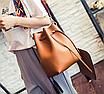 Сумка женская через плечо в наборе кошелек Suzy Коричневый, фото 4